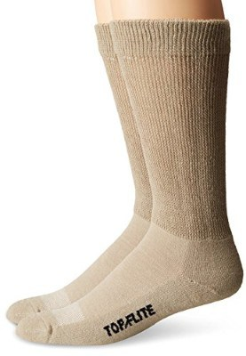 Top Flight Men's Diabetic Non-Binding Mid-Calf Socks 2 Pack