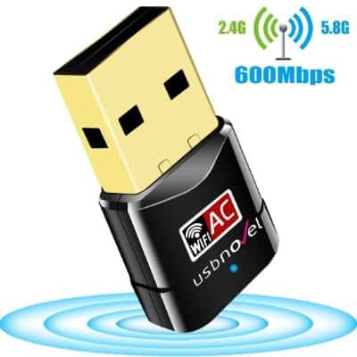 USB Wifi Adapter 600Mbps USBNOVEL Dual Band 2.4G : 5G Wireless Wifi Dongle