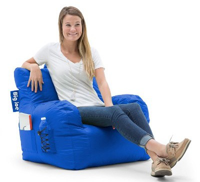 Big Joe Dorm Bean Bag Chair, Sapphire