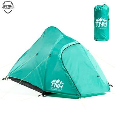 TNH Outdoors 2 Person Camping & Backpacking Tent with Carrying Bag and Stakes