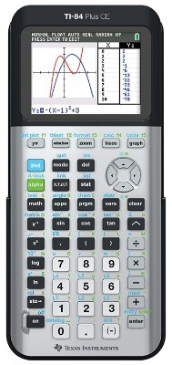 Texas Instruments TI-84 Plus CE Graphing Calculator, Galaxy Gray
