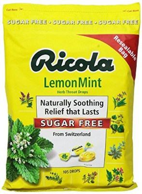 Ricola Sugar-Free Lemon Mint Drops, 210 Count
