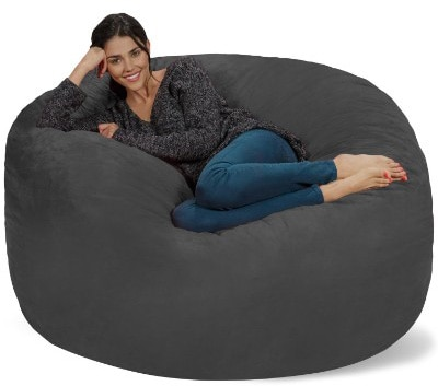 Chill Sack Bean Bag Chair- Giant 5 Memory Foam Furniture Bean Bag-Big Sofa