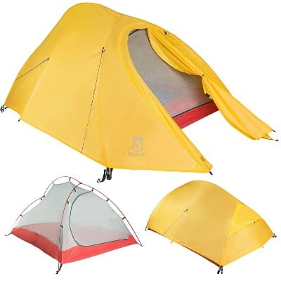 Bryce 2P Two Person Ultralight Tent and Footprint - Perfect for Backpacking, Kayaking