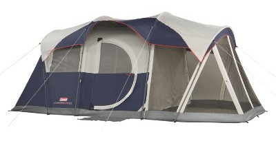 Coleman Elite WeatherMaster Tent - 17'x9' 6 Person Cabin Tent with LED Light System