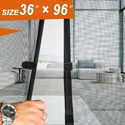 Magnetic Screen Door 36 x 96, Mosquito Patio Screens Magic Door Mesh Fit Doors