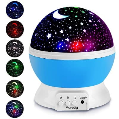 Projection Light Night Lighting Lamp Star Projector With 8 Multicolor 360-Degree Rotation