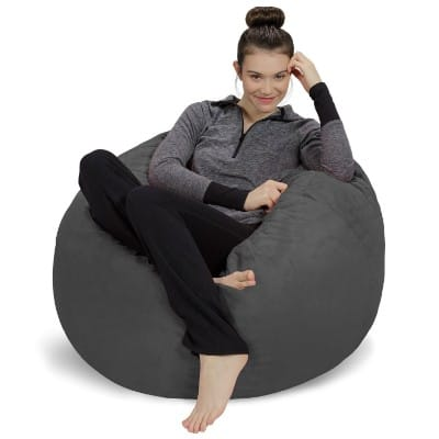 Sofa Sack Bean Bag Chair, 3-Inch Charcoal
