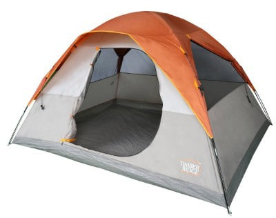 Timber Ridge 6 Person Family Camping Tent D-Shape Door 3 Seasons with Carrying Bag