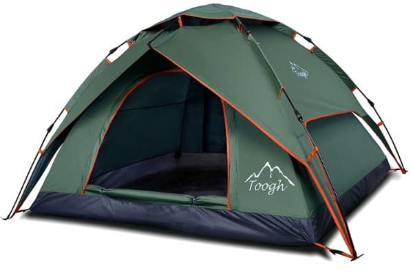 Toogh 2-3 Person Camping Tent 4 Season Backpacking Tent Automatic Instant Pop Up Tent