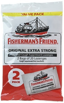 Fisherman's Friend Original Extra Strong Cough Suppressant Lozenges, 40-Count Bags