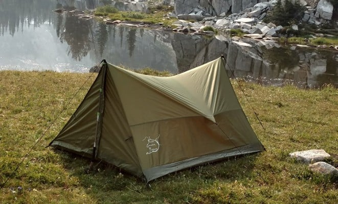 Trekking Pole Tent, Ultralight Backpacking Tent, 2 People All Weather Tent
