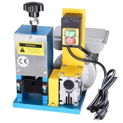 Yescom Electric Automatic Wire Stripping Machine Benchtop Powered Cable Stripper Tool