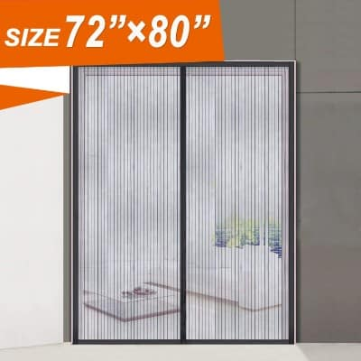 Magnetic Screen Door 72, Wide Mega French Door Mesh 72 X 80 Fit Doors