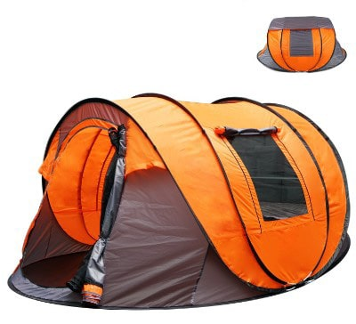 Oileus XL Instant Pop Up Tents for Camping 5-6 Person Tent with Sky-window Easyup-Fast