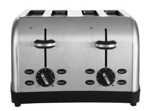 Oster 4-Slices Toaster, Brushed Metal (TSSTTRWF4S-SHP)