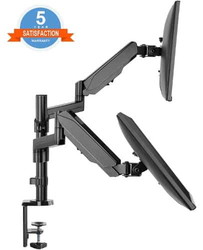 Dual Arm Monitor Desk Mount Stand