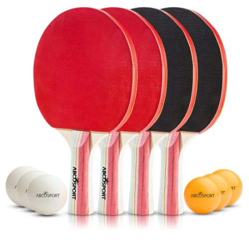 Table Tennis Ping Pong Set – Pack of 4 Premium