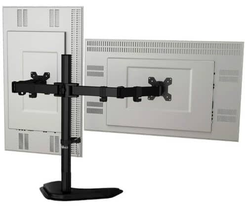 WALI Free-Standing Dual LCD Monitor Fully Adjustable Desk Mount