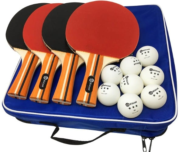 JP WinLook Ping Pong Paddle – 4 Pack Pro Premium Table Tennis Racket Set