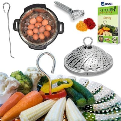 PRIME Vegetable Steamer Basket - BEST Bundle