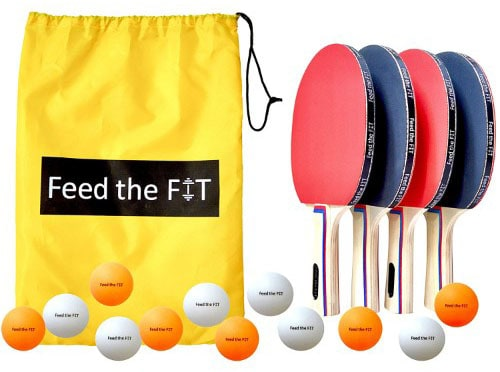 Feed the Fit Ping Pong Paddle Set – Professional