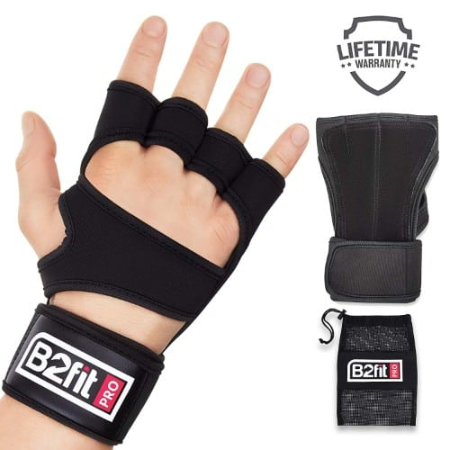 B2FIT PRO Workout Gloves with Wrist Support