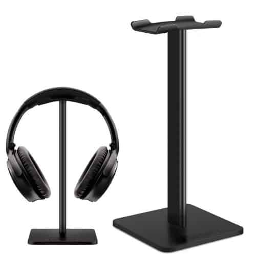 Link Dream Earphone Mount Gaming Headset Holder with Aluminum Supporting Bar Silicone