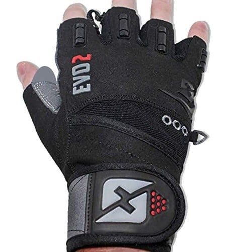 Skott 2018 Evo 2 Weightlifting Gloves with Integrated Wrist Wrap Support