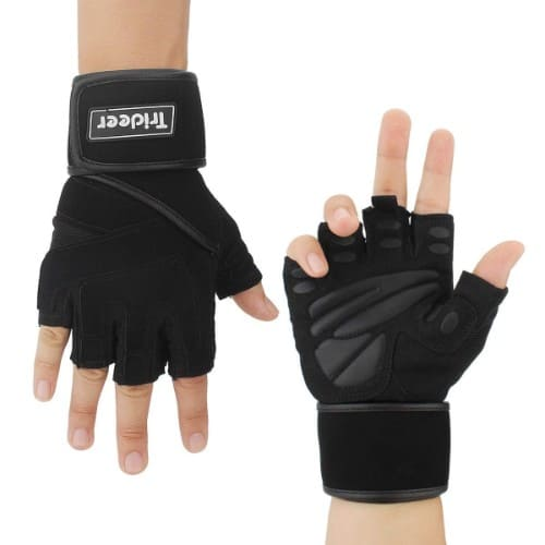 "Trideer Weight Lifting Gloves 18"" Wrist Wraps Support, Pro Padded Gym Gloves"