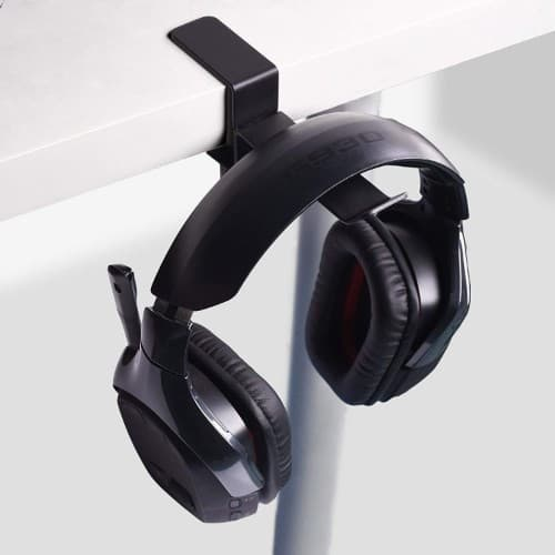 6amLifestyle Universal Metal Headphone Holder Hanger Clip with Adjustable Clamp