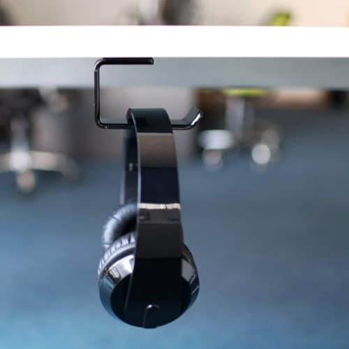 AMOVEE Acrylic Under-Desk Stick-on Headphone Hanger
