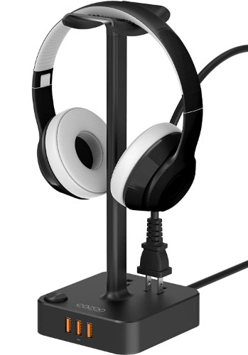 Headphone Stand with USB Charger COZOO Desktop Gaming Headset Holder Hanger