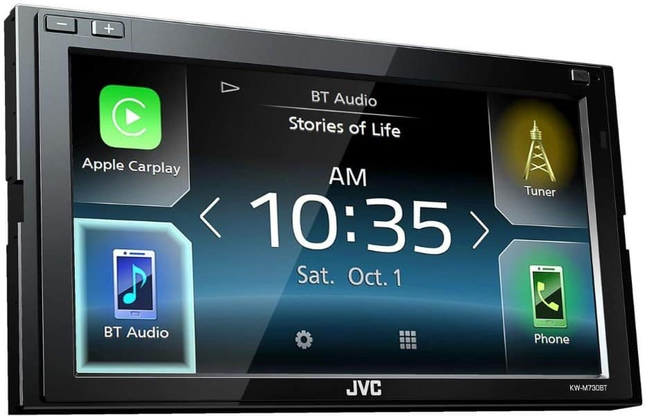 JVC KW-M730BT 6.8 in-Dash Car Bluetooth Receiver Android, Carplay