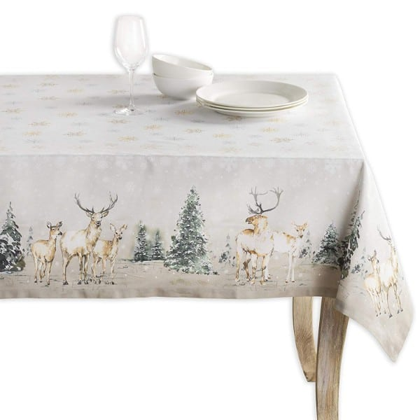 Maison d' Hermine Deer in The Woods 100% Cotton Tablecloth