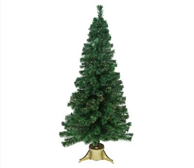 #10. DAK 6' Pre-Lit Color Changing Fiber Optic Artificial Christmas Tree