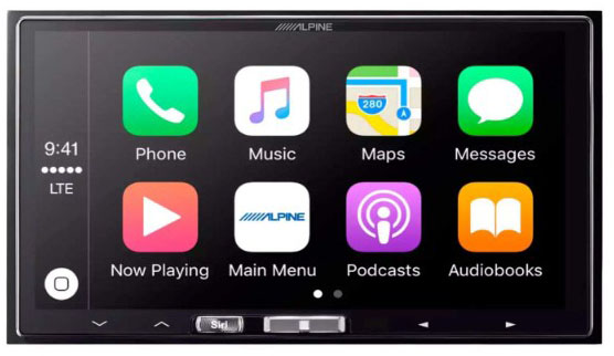 Alpine ILX-107 7 Mech-less In-Dash Receiver with Wireless Apple CarPlay