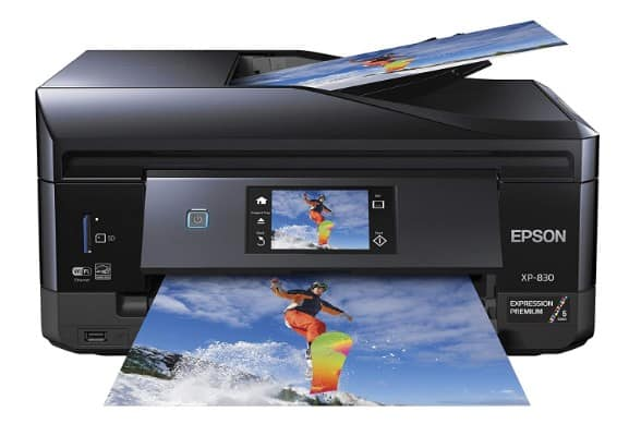 Epson XP-830 Wireless Color Photo Printer Scanner, Copier & Fax