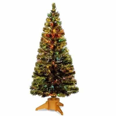 #11. National Tree 72 Inch Fiber Optic Radiance Fireworks Tree