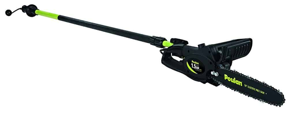 Poulan 952802360 8 amp 1.5 HP Electric Pole Pruner with 10-Inch Bar and Chain