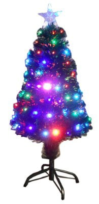 #12. TEKTRUM 36 CHRISTMAS RAINBOW COLOR CHANGING FIBER OPTIC LIGHTS TREE