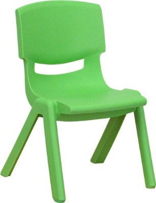 Flash Furniture Green Plastic Stackable School Chair