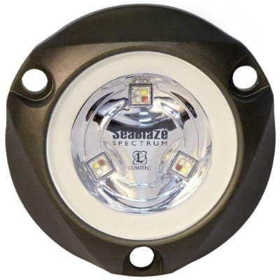 Lumitec 101436 SeaBlazeX Mini Spectrum LED Underwater Boat Light