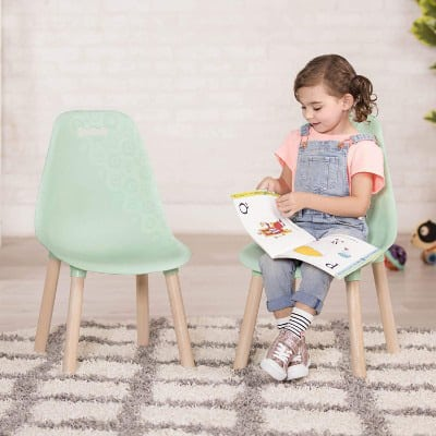 Kid-Century Modern- Trendy Toddler Chair Set of Two Kids Chairs