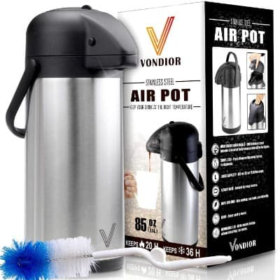 Thermal Coffee Airpot - Beverage Dispenser (85oz.)
