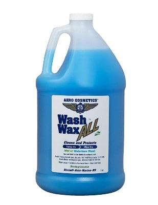 Aero Cosmetics Aircraft Quality Wet or Waterless Car Wash Wax, 128 oz.