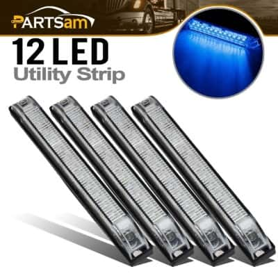 6 Clear:Blue Underwater Led RV Boat Light 12LED Utility Strip Light