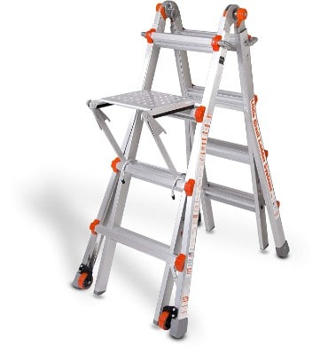 Little Giant Classic 10102LGW 300-Pound Duty-Rating Ladder System with Work Platform