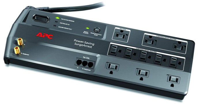 APC 11-Outlet Surge Protector 3400 Joules