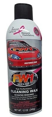 FW1 Waterless Wash and Wax Polish with Carnauba by Fast Wax 12 oz (2 cans)